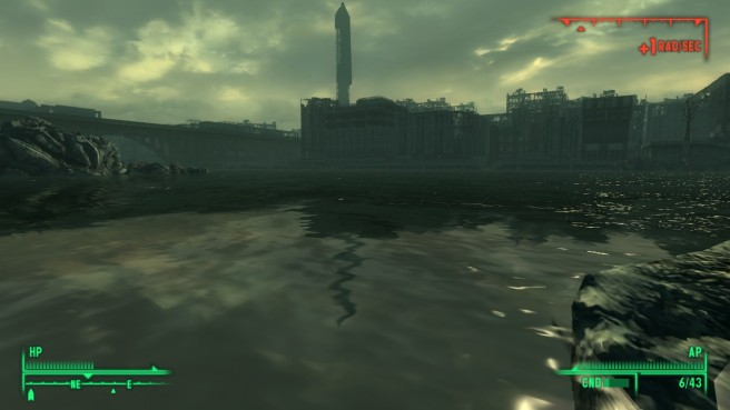 The irradiated Potomic cuts The Capital Wateland in half.