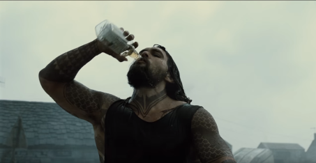 Aquaman chugging some hard liquor, because he's a man and you're a bitch!