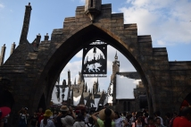 First glimpse of Hogsmeade.