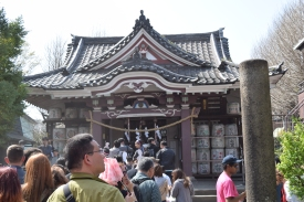 Shrine of the two blacksmith gods.