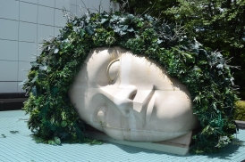 Hakone Open-air Museum Head in Pool